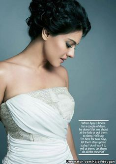 Kajol Devgan (née Mukherjee ) (born 5 August 1974), known mononymously as Kajol, is an Indian film actress who predominantly works in Hindi cinema. She has received six Filmfare Awards from eleven nominations, and along with her late aunt Nutan, like : http://www.Unomatch.com/Kajol-devgan/