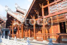 Tu Sac Khai Doan pagoda Daklak, Vietnam royalty-free stock photo