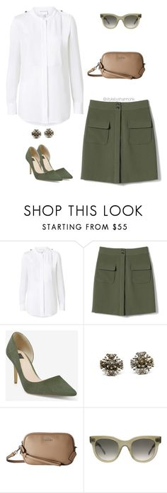 """""""Military"""" by stylebyshannonk ❤ liked on Polyvore featuring Witchery, Banana Republic, White House Black Market, Coach, CÉLINE, ootd, military, MilitaryStyle and forrestgreen"""
