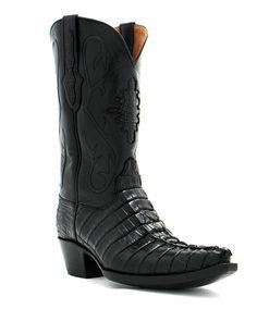 Men's Black Jack Boots Alligator Tail Boot at Maverick Western Wear