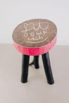 Diy stool - Handlettering
