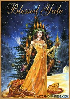 "Around Christmas a common heard blessing is ""Yule time greetings"". Yule is one of the eight pagan sabbats occurring in the Northern hemisphe. Wiccan, Pagan Yule, Magick, Pagan Art, Pagan Witchcraft, Samhain, Yule Celebration, Yule Decorations, Sabbats"