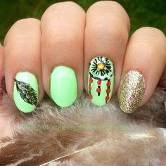 Dreamcatcher Nails      #nails #nailart #dreamcatchernails #nativenails #dreamcatcher #feather #feathernails #mintgreen