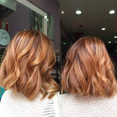 Image result for blonde balayage on auburn hair