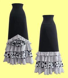 Falda Flamenco 33385 Granaina Maxi Skirts, Sewing, Crochet, Spanish, Patterns, Future, Dresses, Ideas, Fashion