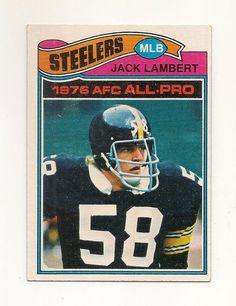 1977 Topps Jack Lambert Pittsburgh Steelers #480 Football Card #PittsburghSteelers