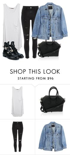 """""""Untitled #3550"""" by ericacavaco12 ❤ liked on Polyvore featuring GG 750, Givenchy, River Island, Y/Project and Balenciaga"""