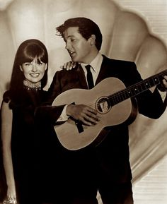 """{*Elvis & his co-star Shelley Fabares on the set of """"Clambake"""" 1967*}"""