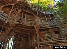 The Minister's Treehouse. Crossville, Tennessee:  Must be the worlds largest treehouse :-)