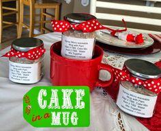 Marci Coombs: Cake In a Mug: Cute Neighbor Gift Idea.