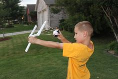 Cheap and easy sling shot to build with the kids