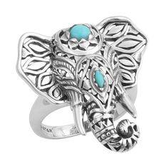Elephant ring, unique, turquoise