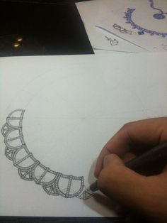iankwan:  Necklace design for 10 pieces of 1 carat diamond. A lot more work to go!