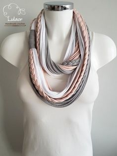 T shirt scarf t shirt infinity scarf loop scarf fabric by Lulaor