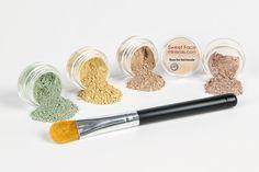 CONCEALER and CORRECTOR Kit with BRUSHChoose Your Size and Concealer Shade Mineral Makeup Set Bare Skin Face Foundation Powder (5 gram Sample Size Jars, Medium Concealer) >>> Trust me, this is great! Click the image. : Makeup