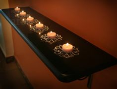 Tealight candles adorning our entrance...     Tealight candles have become a big part of the Diwali illuminations in many Indian  homes. ...