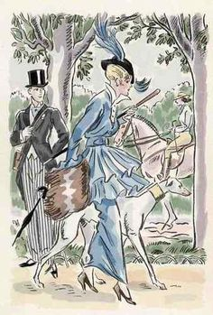 Greyhound and lady 1910 Lana Velin Bütten