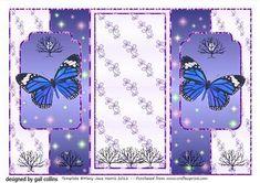 butterfly fold back 3 on Craftsuprint - Add To Basket!