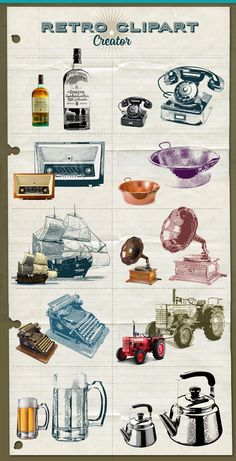 Retro Clipart Creator by sgc design on Creative Market