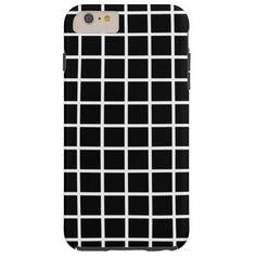 Customizable Bold Black & White Grid Phone Case