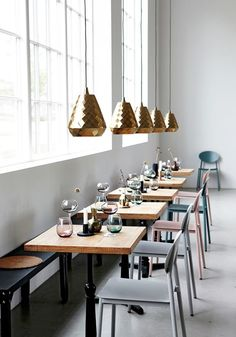 House Doctor AW 2014 Collection - NordicDesign / / Make your dining room feel like a restaurant. House Doctor, Architecture Restaurant, Interior Architecture, Interior And Exterior, Room Interior, Bar Design, Deco Design, Restaurant Branding, Restaurant Design