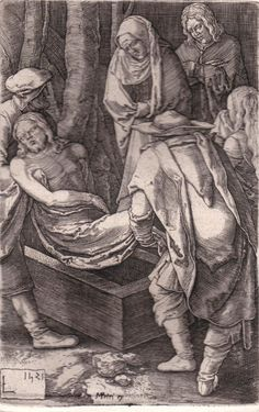 Lucas Van Leyden - The Emtombment  - Engraving  #Vintage