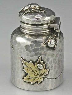 ゝ。Rare Sterling Silver Inkwell by Tiffany and Company ⟷ Dated July 31st 1882.。