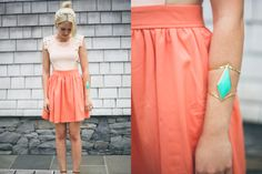 fun summer colors: coral, turquoise