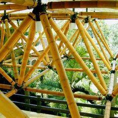 Hasil gambar untuk arsitek using Bamboo Architecture, Sustainable Architecture, Sustainable Design, Architecture Details, Bamboo Bamboo, Bamboo Roof, Bamboo Structure, Timber Structure, Bamboo House Design