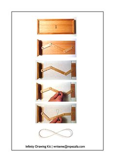 Step by step infinity drawing kit. Infinity Drawings, Kit, Home Decor, Toys, Creativity, Decoration Home, Room Decor, Interior Decorating