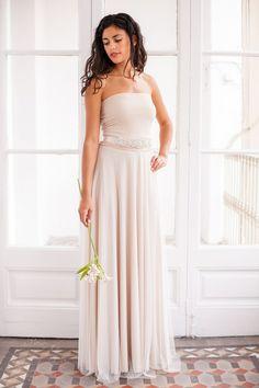 Tulle wedding Dress Strapless Tulle Wedding Dress by mimetik