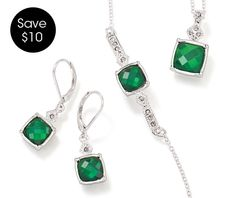 AVON - jewelry: Breathtaking 3-Piece Birthstone Gift Set in the color of the moment~Emerald Green and 12 other lucious birthstone colors too