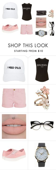 """""""Untitled #764"""" by kris-2001 ❤ liked on Polyvore featuring Nasaseasons, Balmain, Current/Elliott, Accessorize, Vans, NLY Accessories and Isabel Marant"""