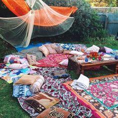 boho garden party - decor