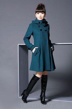 Femme Manteau Caban Veste Long Capuche Cintre Bleu A44 in Vêtements, accessoires, Femmes: vêtements, Autres | eBay
