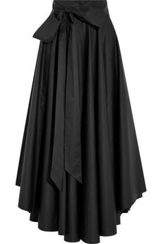 Black cotton-poplin Concealed hook and zip fastening at back cotton Dry clean Fashion Days, Womens Fashion, Fashion Clothes, Fly Gear, Short Tops, Steampunk Fashion, Ladies Day, Flare Skirt, Black Cotton