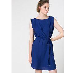 Buy Mango Belted Dress, Dark Blue Online at johnlewis.com