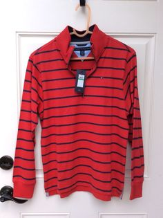 Tommy Hilfiger Boys Large 16/18 Long Sleeve Polo NWT #TommyHilfiger #Everyday