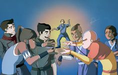 """This is so great!  Aang and Korra show of their moves -- """"Now Check This Out"""" by ~Marina-Shads on deviantART."""