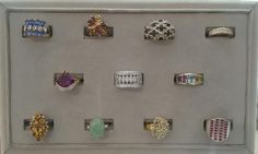 Large selection of sterling silver and vermeil rings starting at $20 available April 22nd at Gemstone Creations.