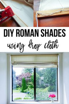 You need this for your windows! Easy DIY roman shades using drop cloth! : You need this for your windows! Easy DIY roman shades using drop cloth! Diy Home Decor Projects, Diy Wood Projects, Sewing Projects, Decor Ideas, Decorating Ideas, Diy Ideas, Interior Decorating, Room Ideas, Craft Ideas