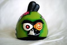Zombie Ceramic Angry Bird. $12.00, via Etsy.