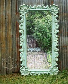 A Q U A, Mirror Vintage Shabby Chic Cottage Nursery Dreamy Aqua by smallVintageAffair on Etsy https://www.etsy.com/listing/238981113/a-q-u-a-mirror-vintage-shabby-chic