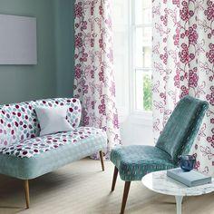Beautiful fabrics from @sanderson1860 summer hues... #londoninteriors #interiorslondon #interiors #interiordesign #curtains #fabulousfabrics #upholstery