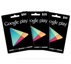 Wouldn't we all love this for a gift!?!   Google Play Gift Card - $any