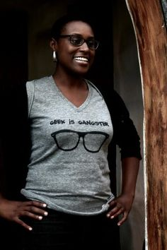 Alecia: Geek is Gangster in Awkward Black Girl I want this shirt!!!