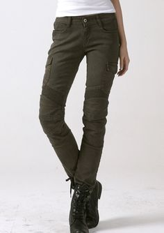 Buy the uglyBROS MOTORPOOL Womens Moto Pants for $480.00. Skinny straight fit reinforced denim motorcycle riding jeans with removable knee and hip protectors uglyBROS part number UAPW002 available online and in store. We ship to Canada/USA and give you a 30 day return or exchange policy.