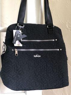 Kipling Camryn Quilted Laptop Bag Black  | eBay