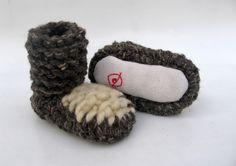 Pantuflas - Zapatillas de lana de ARTE-SANIAS por DaWanda.com