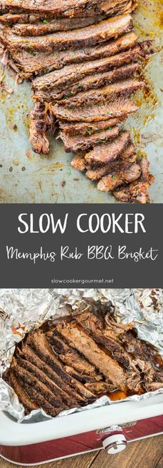 With an amazing homemade seasoning blend, this Memphis Rub BBQ Brisket is simple to make in the slow cooker and perfect for entertaining!